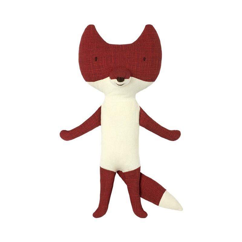Doudou renard marron