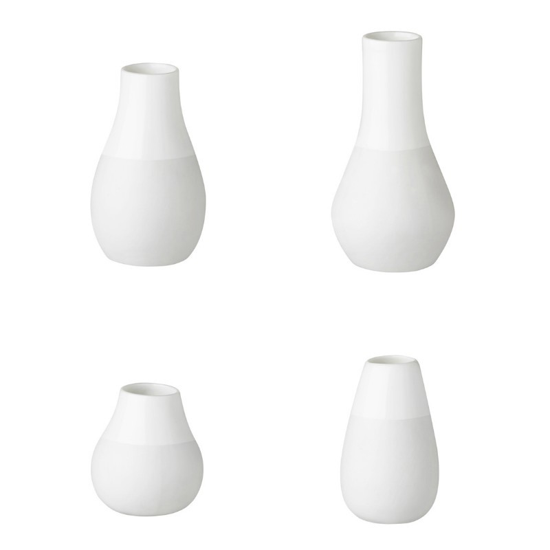 Set de 4 mini vases blancs