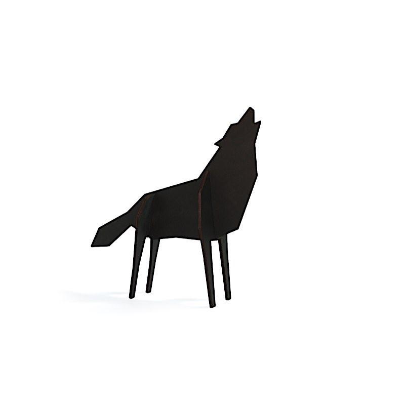 Puzzle grand Loup noir en bois