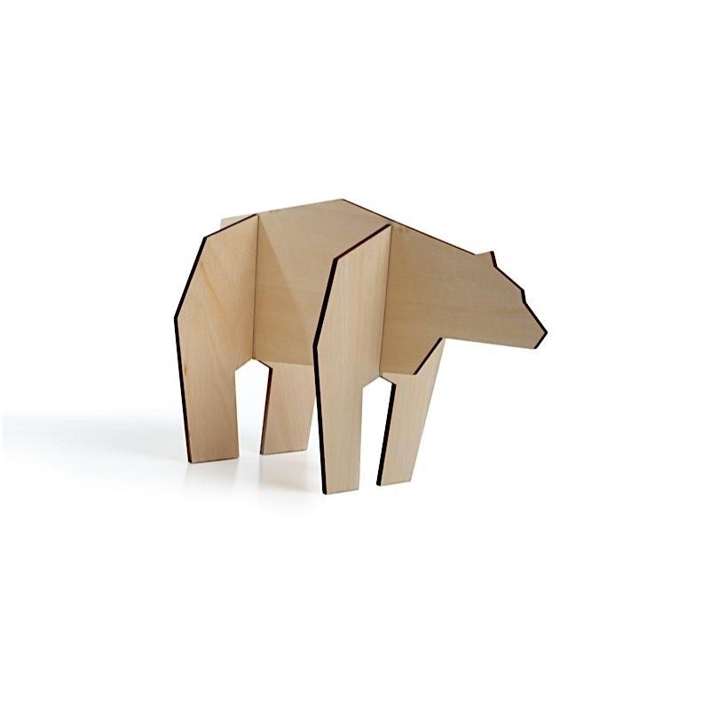 Puzzle petit ours en bois