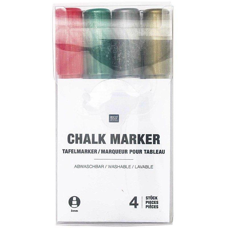 Lot de 4 crayons ultralavables