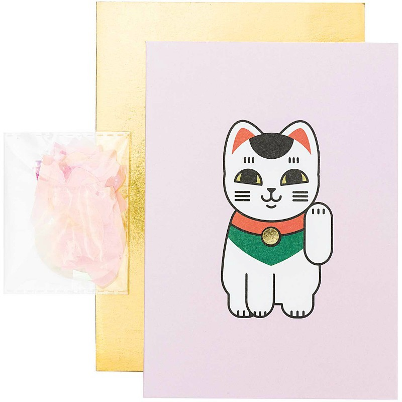 Carte diy Lucky cat