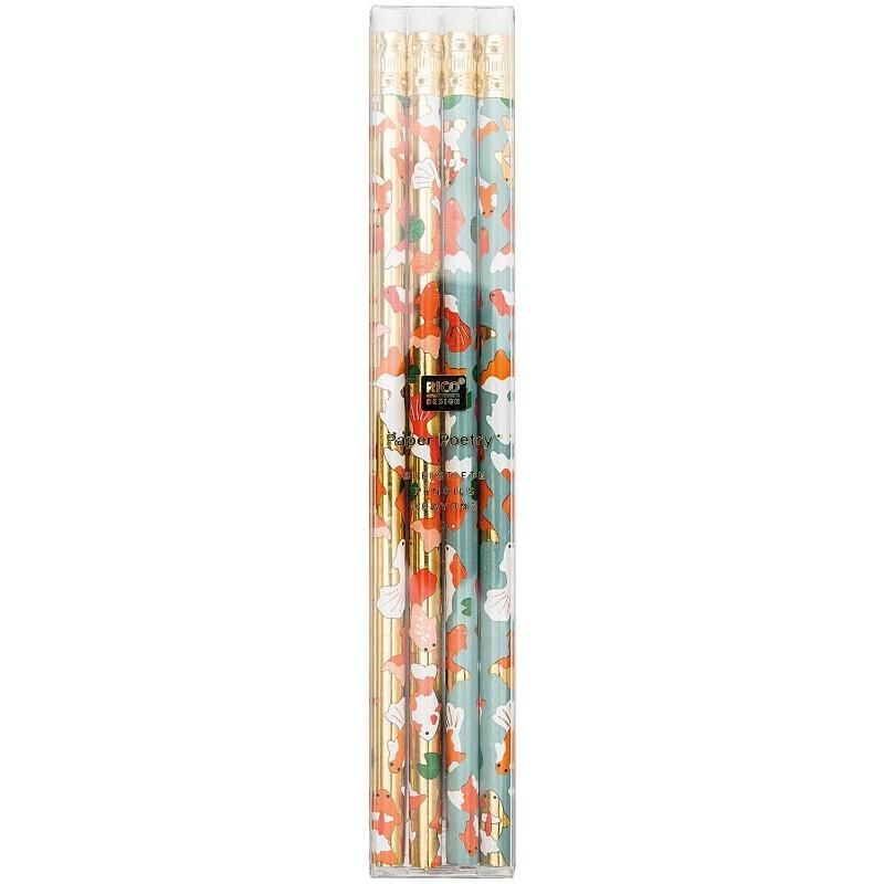 Lot de 4 crayons de bois...