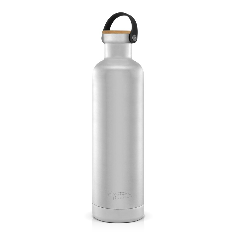 Bouteille thermos inox argent