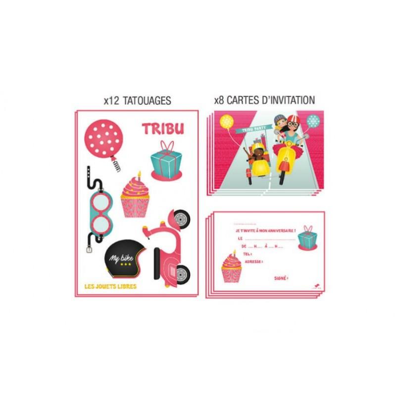 Cartes invitation tribu Biker