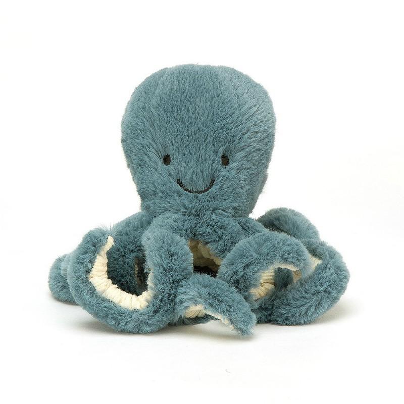 Petite peluche pieuvre bleue