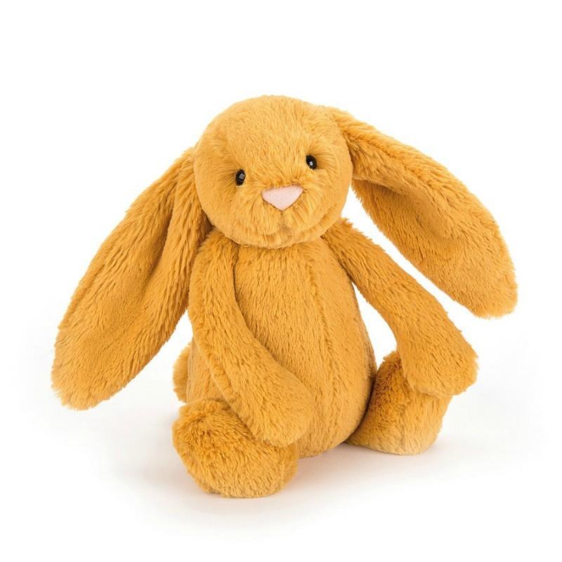 Petite peluche lapin jaune...