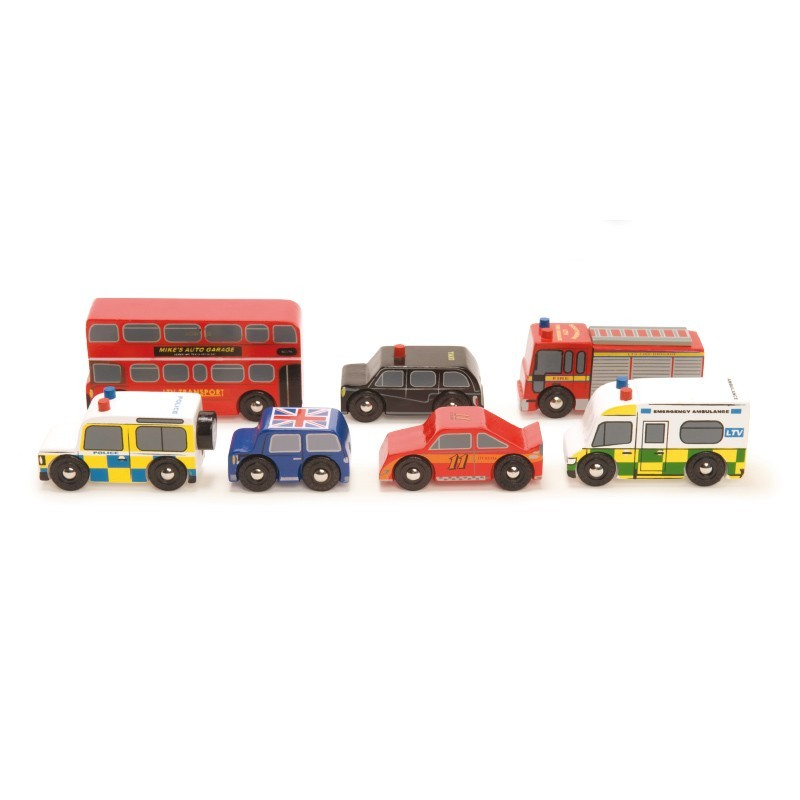 Set de 7 voitures Londres