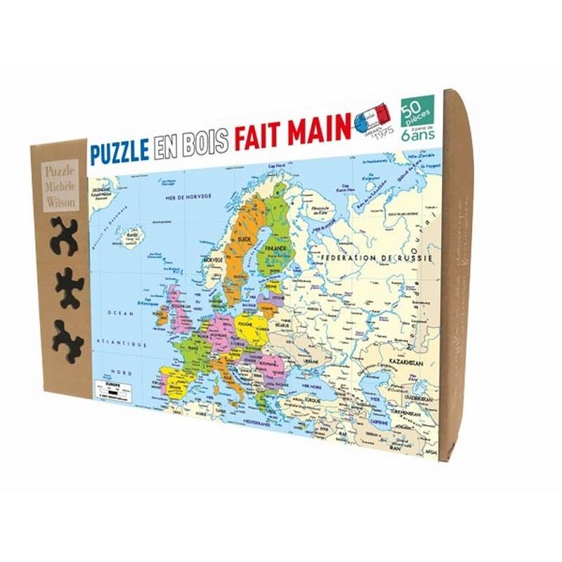 Puzzle en bois carte d'Europe
