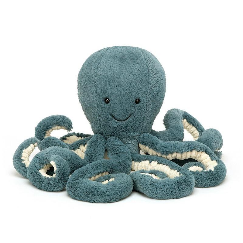 Peluche pieuvre bleue