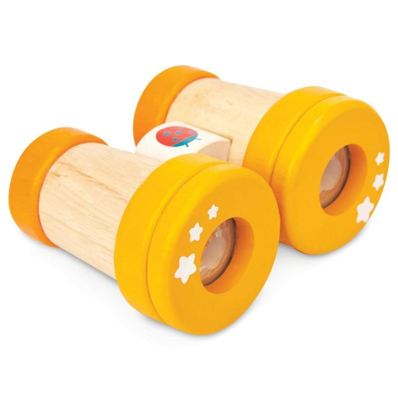 Jumelles coccinelle en bois