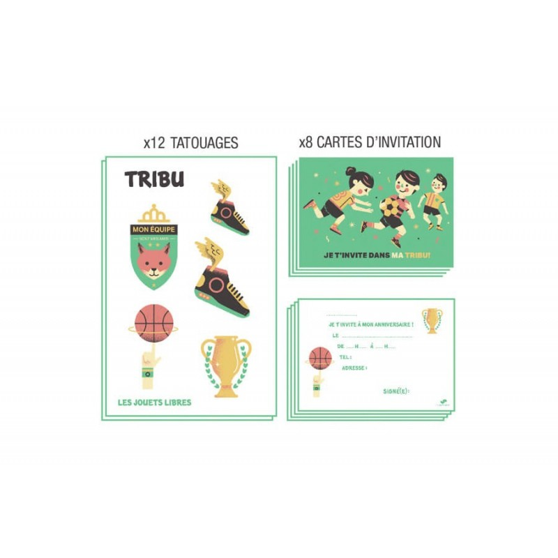 Cartes invitation tribu Sport