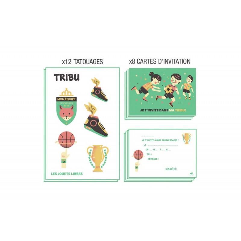 Cartes invitation tribu Sport