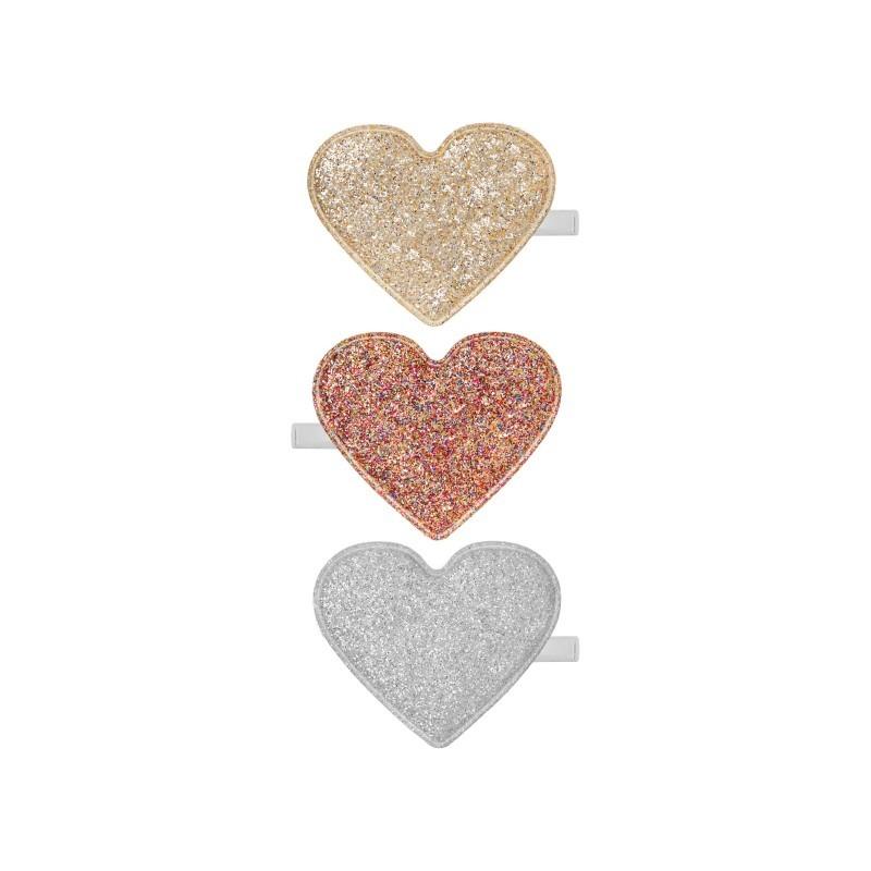 Lot de 3 barrettes Coeur...