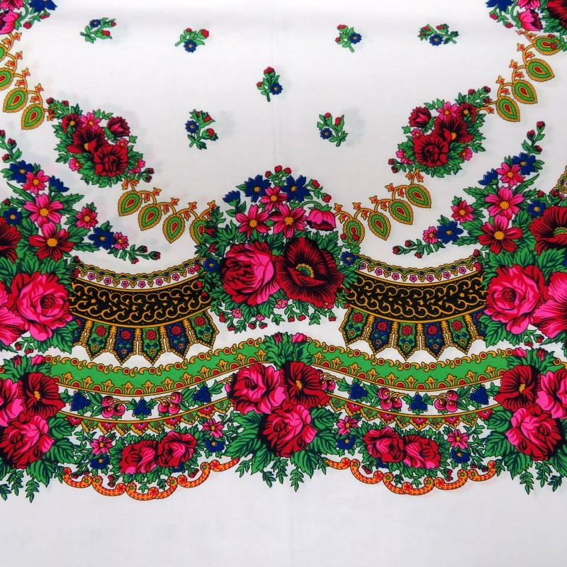 Grand foulard slave blanc