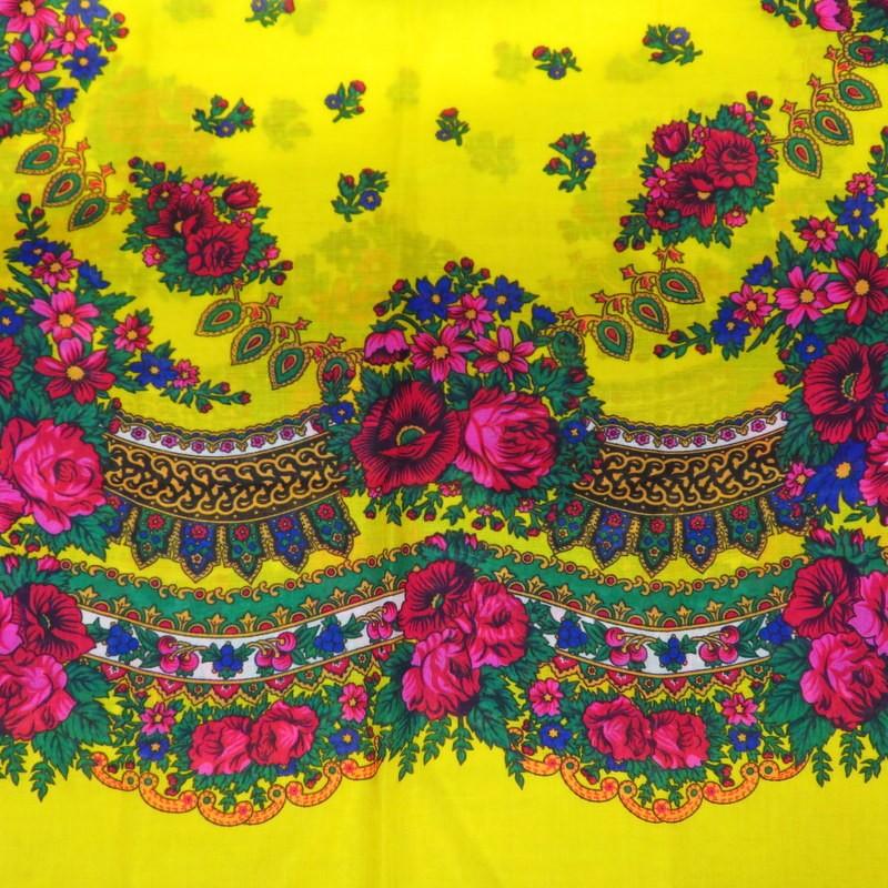 Grand foulard Slave jaune