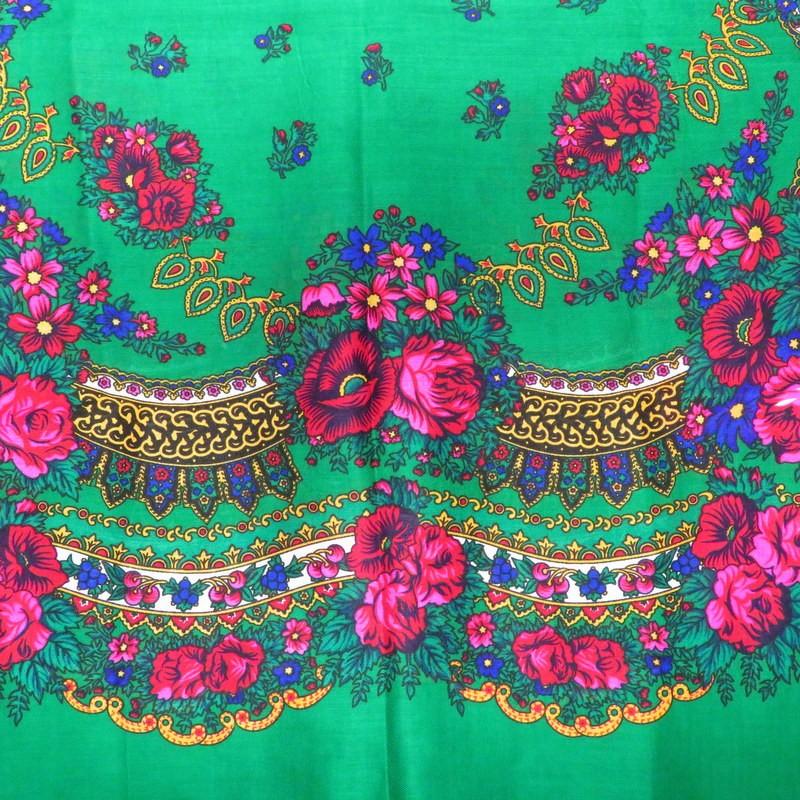 Grand foulard Slave vert
