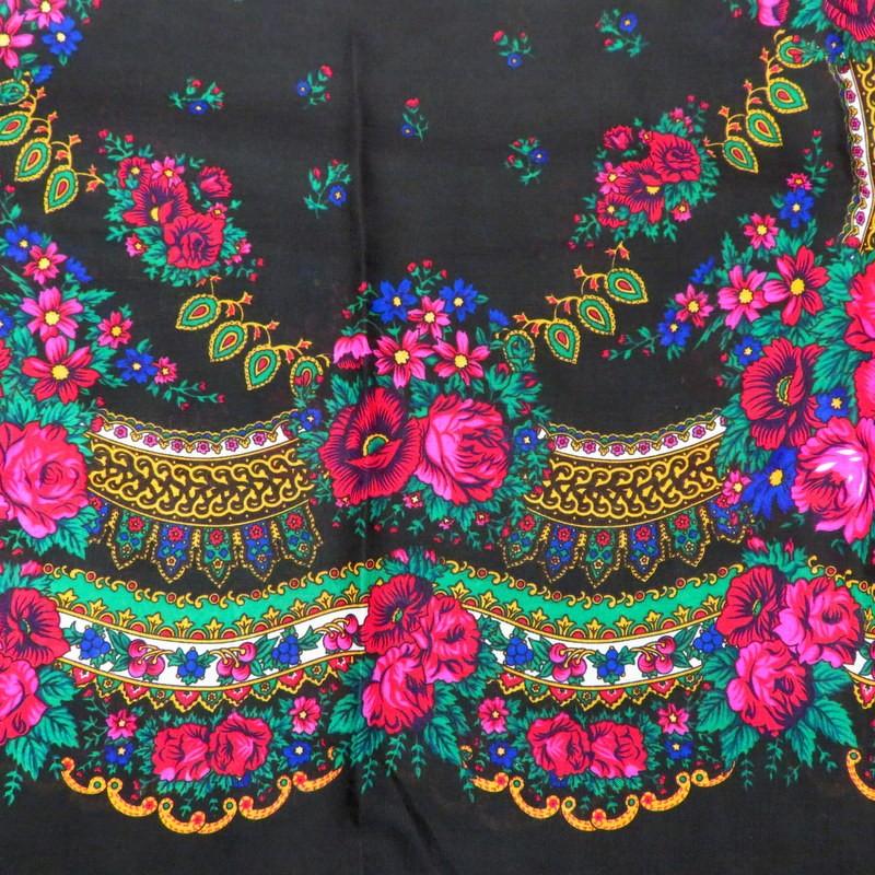Grand foulard Slave noir