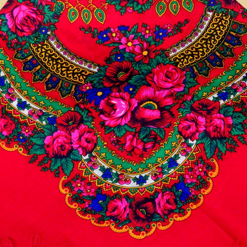 Grand foulard Slave rouge