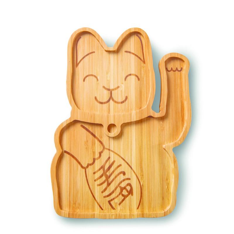 Plateau en bambou Lucky cat