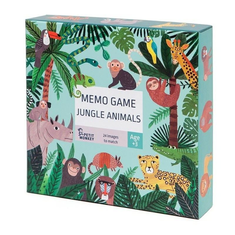 Mémory Animaux de la jungle