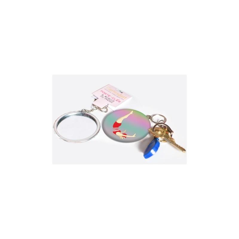 Porte-clés miroir Plongeuse