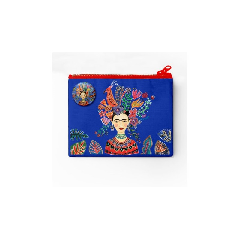 Porte-monnaie et badge Frida