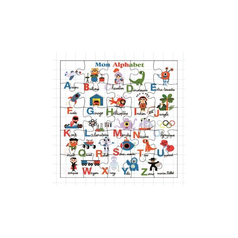 Carte puzzle Mon alphabet