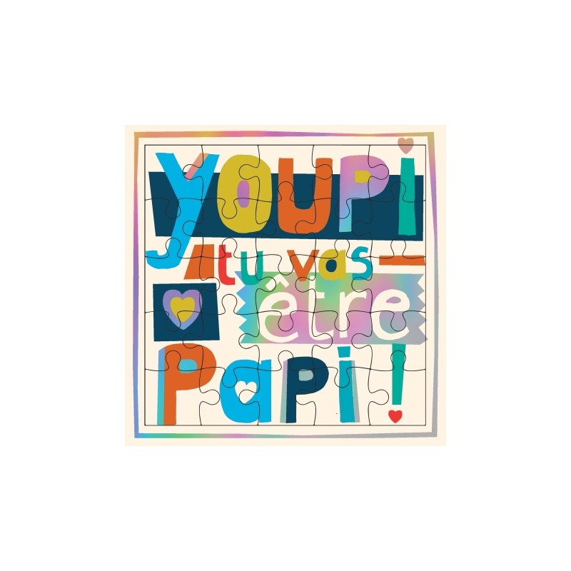 "Carte puzzle ""Youpi tu vas..."
