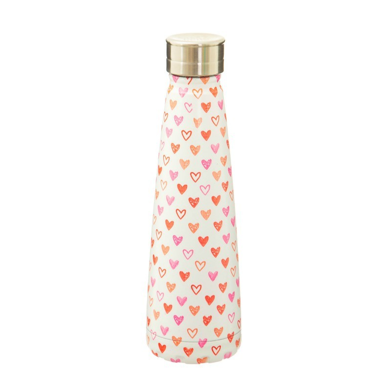 Bouteille thermos inox Coeur