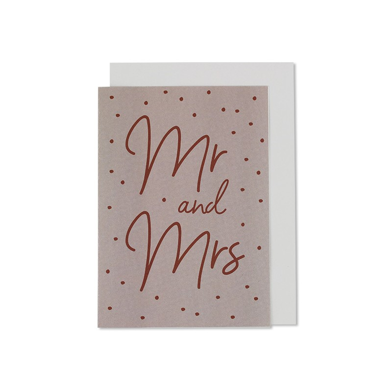 Carte double & enveloppe Mr...