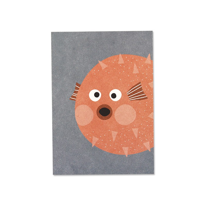 Carte simple Poisson lune