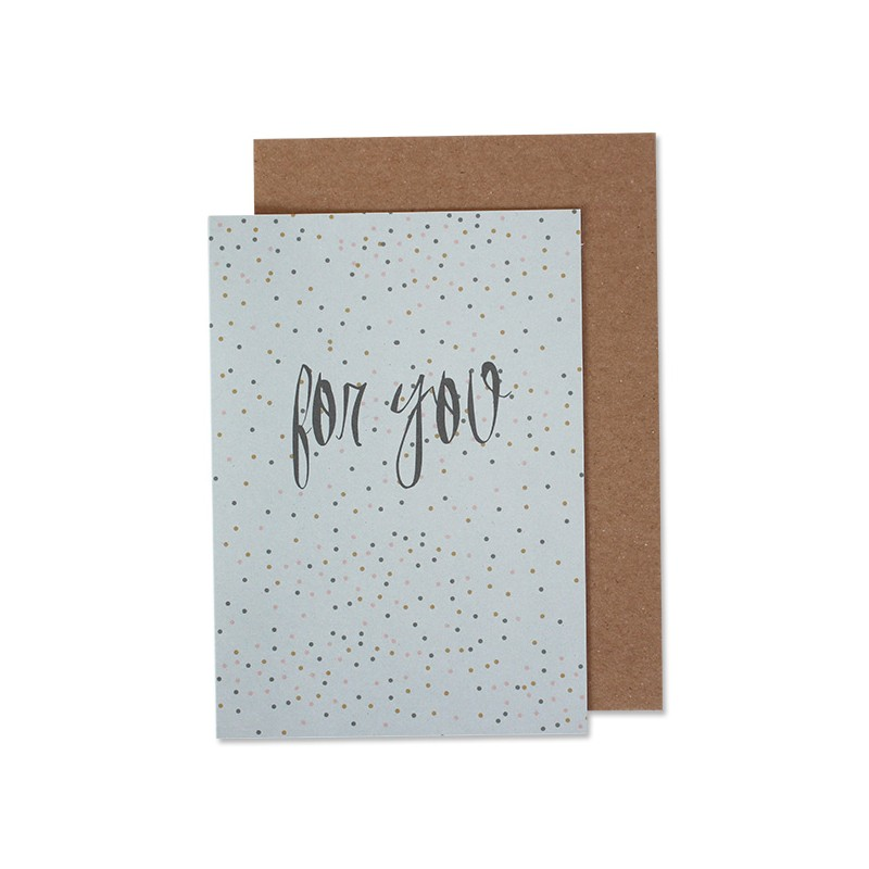 Carte double & enveloppe...