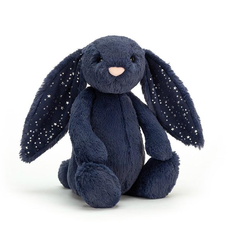 Peluche lapin bleu étoiles...