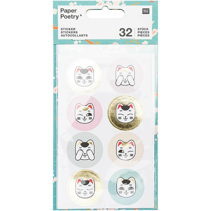 Stickers Lucky cat X32