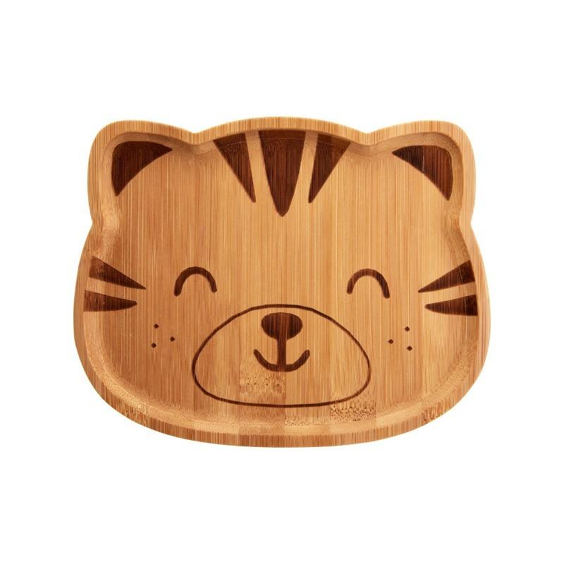 Assiette Tigre en bambou