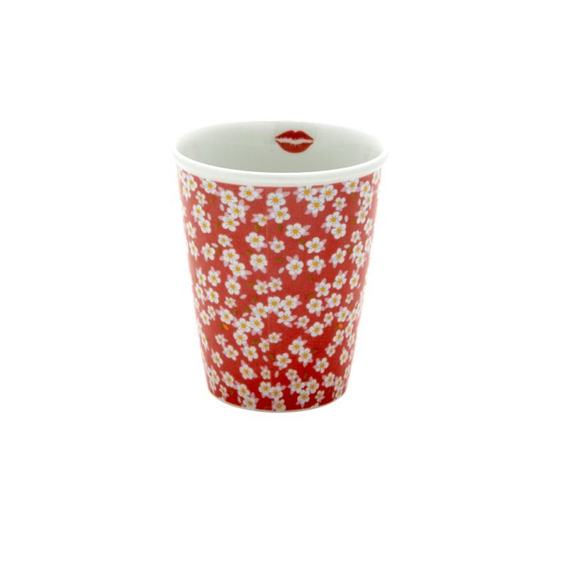 Tasse en porcelaine rose...