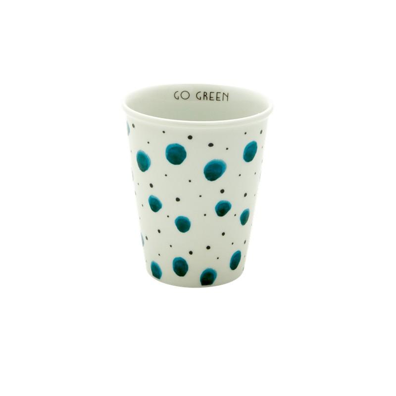 Tasse en porcelaine Go green