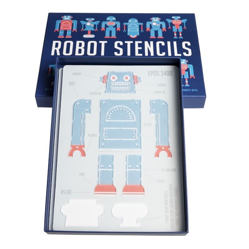 Ensemble de 4 pochoirs Robots