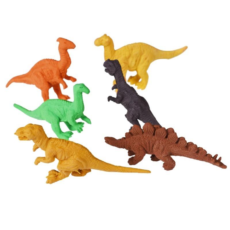 Lot de 6 gommes dinosaures