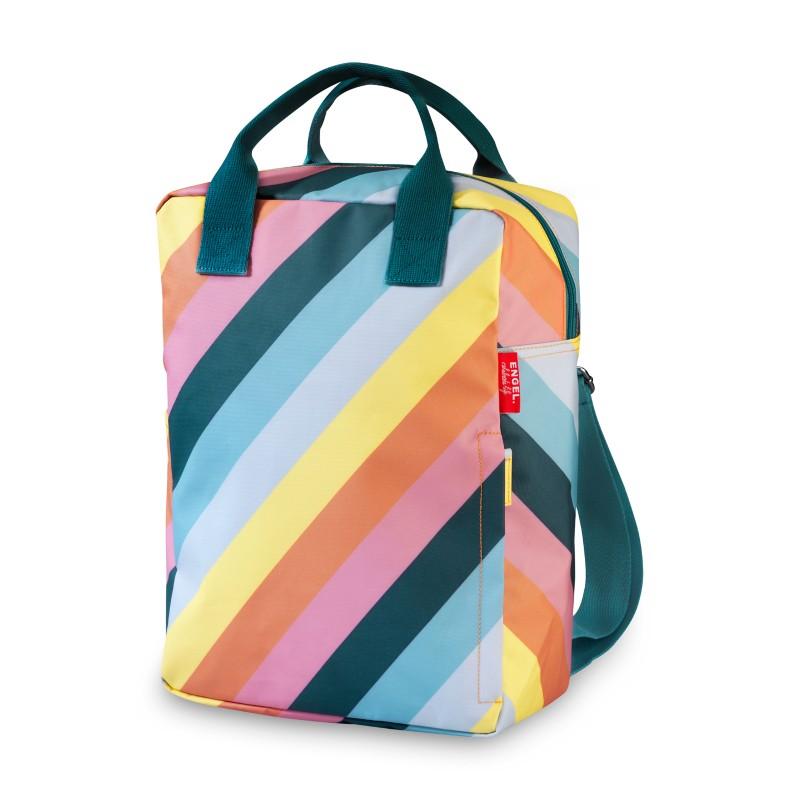 Grand sac à dos rayé pastel