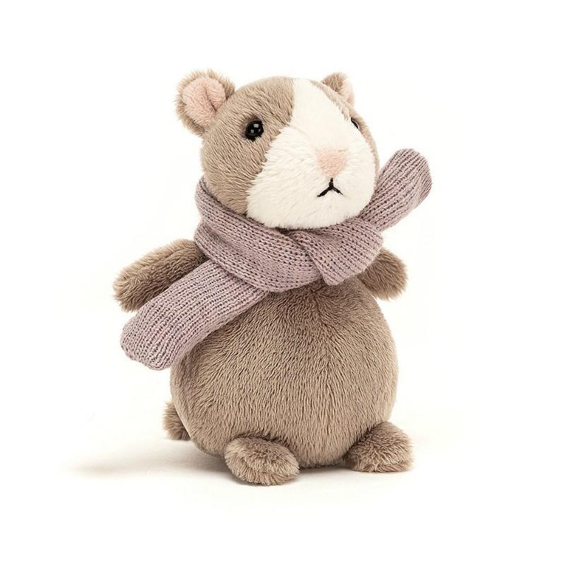 Peluche mini Hamster brun