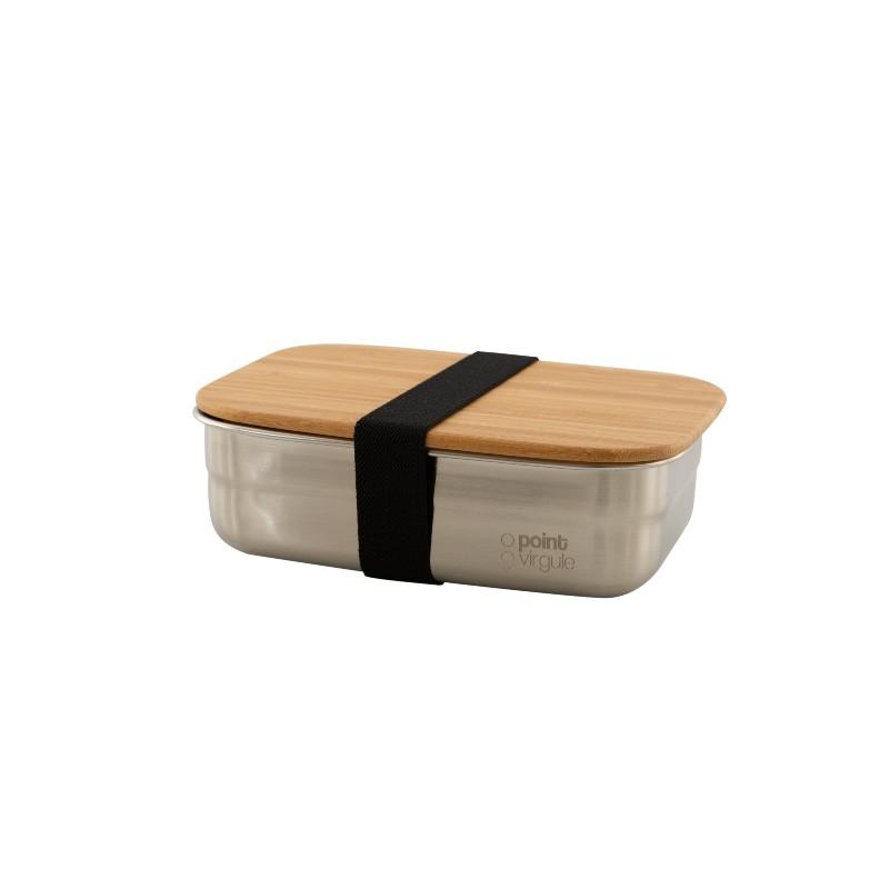 Boîte à lunch Inox & bambou