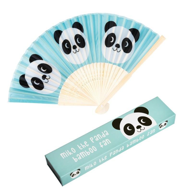 Eventail en bambou Panda