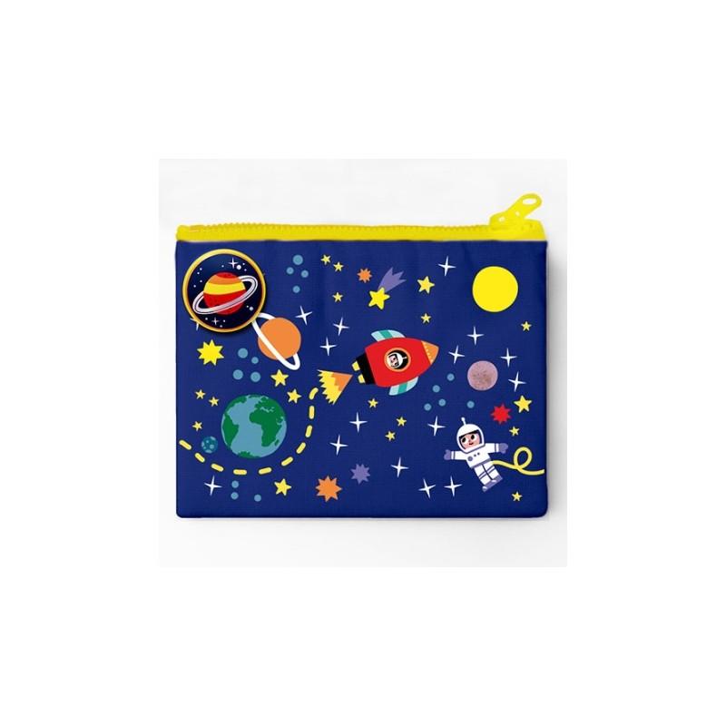 Porte-monnaie et badge Cosmos