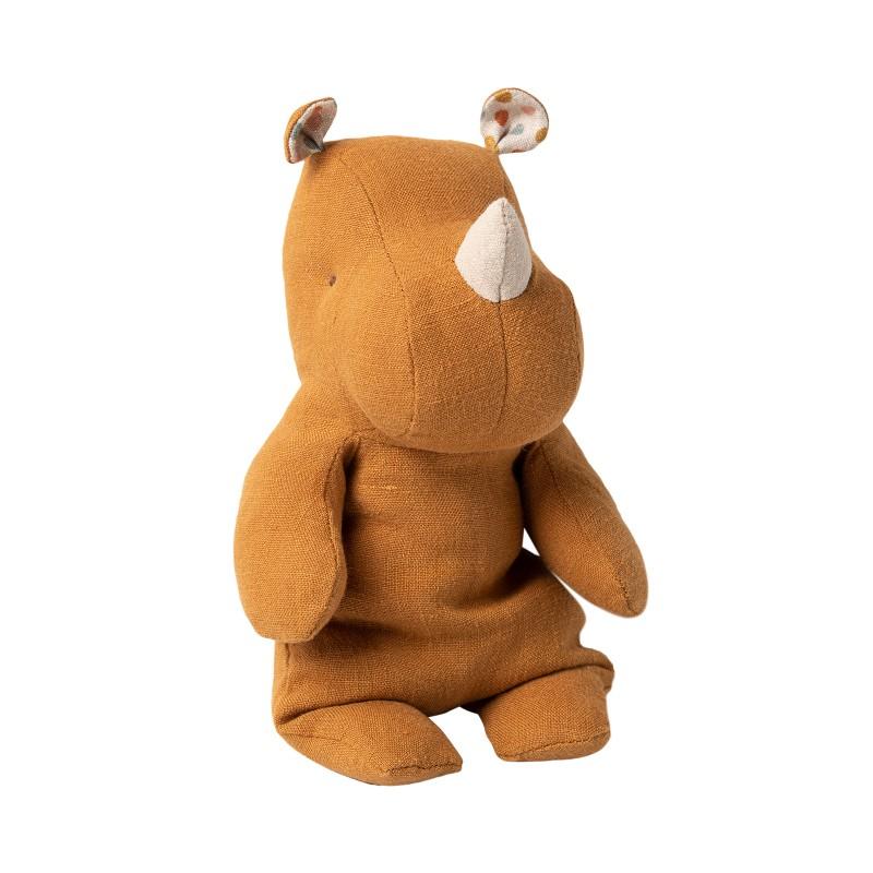 Petit doudou Rhino camel