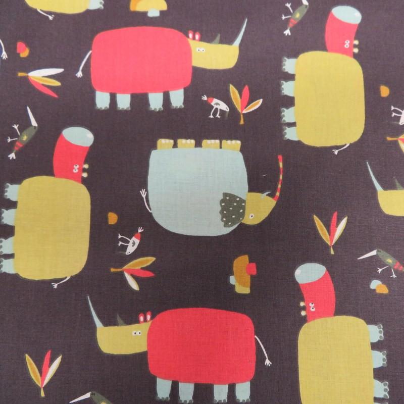 Tissu Raton Rhino, hippo &...