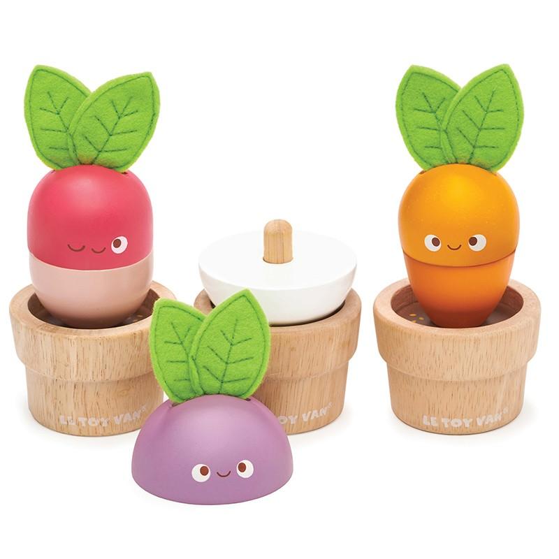Légumes empilables en bois