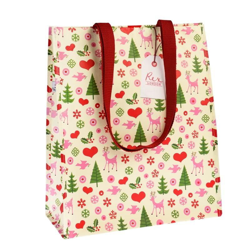 Sac shopping Retro Noël