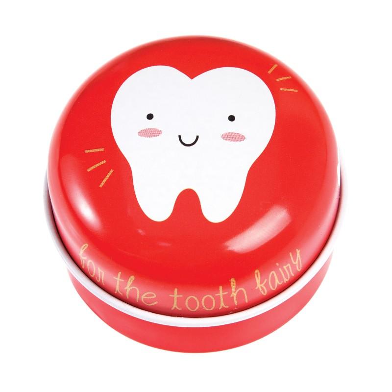 Boîte à dents de lait rouge